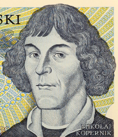 copernicus: Nicolaus Copernicus on 1000 zlotych 1982 banknote from Poland. Stock Photo
