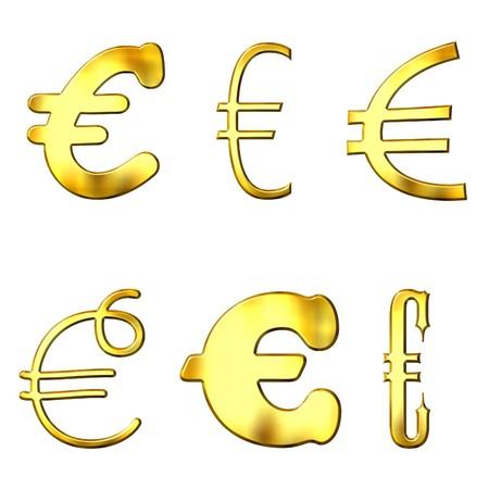 eccentric: Eccentric golden Euro symbols