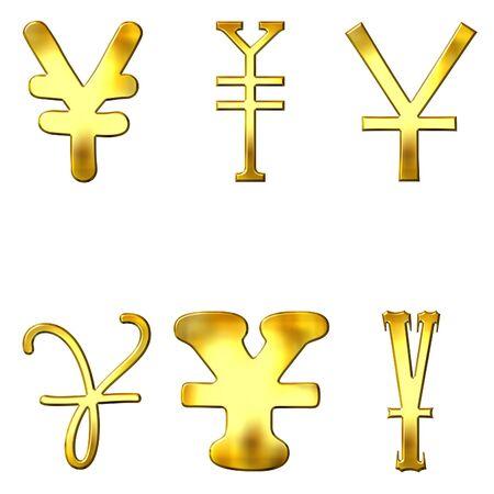 eccentric: Eccentric golden Yen symbols
