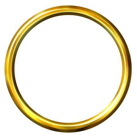 shinning: 3d golden ring