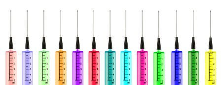 conceptual: Colorful syringes