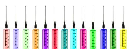 concept conceptual: Colorful syringes