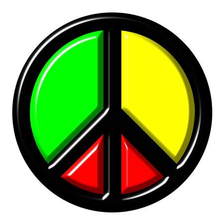 shinning: Colorful peace symbol