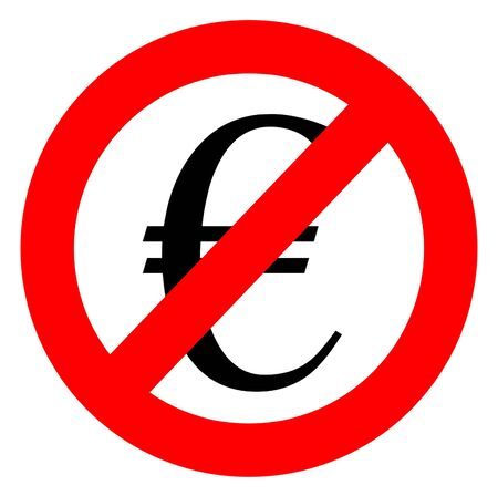 charge: Free of charge anti euro sign  Stock Photo