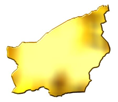 San Marino 3d golden map isolated in white photo