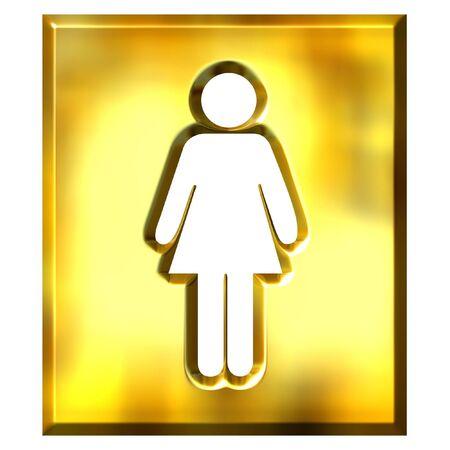 3d golden female sign photo