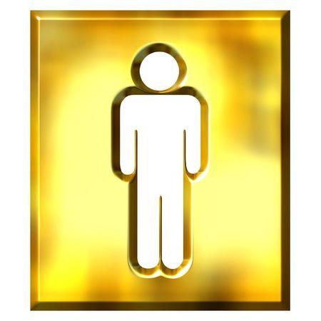 3d golden male sign photo