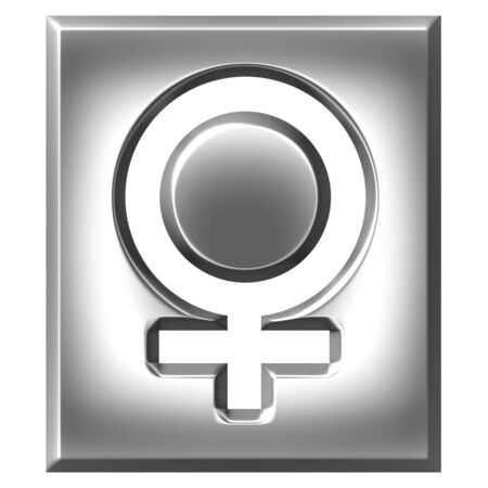 3d silver female symbol sign photo