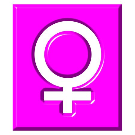 3d female symbol sign isolated in white photo