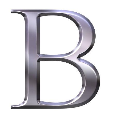 beta: 3d argento greco lettera Beta