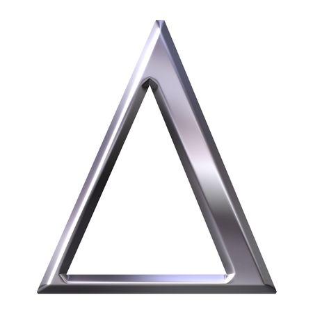 3d silver Greek letter Delta  photo
