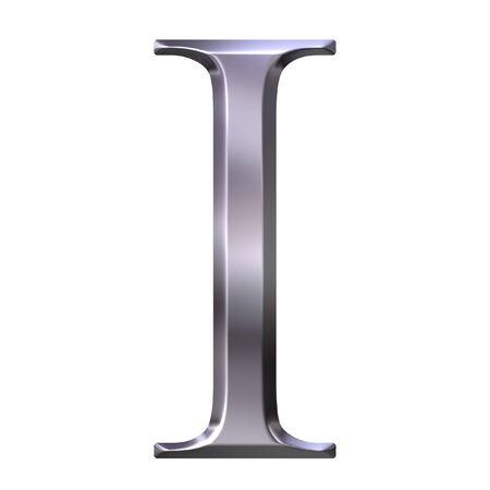 3d silver Greek letter Iota