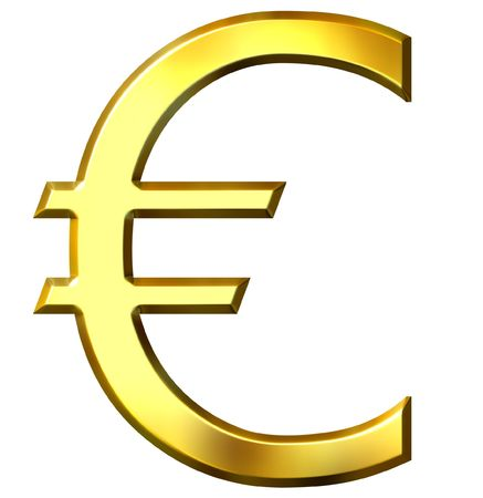 3d golden euro symbol  photo