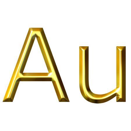aurum: Gold symbol  Stock Photo