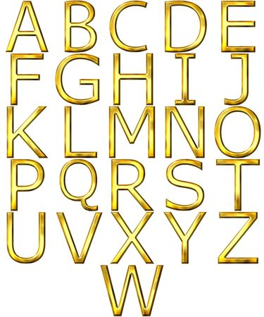 3d golden alphabet Stock Photo - 4804744