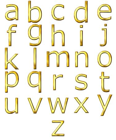 3d golden alphabet Stock Photo - 4804753