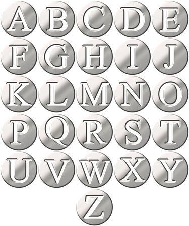 3d steel framed alphabet Stock Photo - 4804741