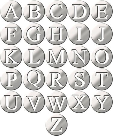 3d steel framed alphabet Stock Photo - 4804741