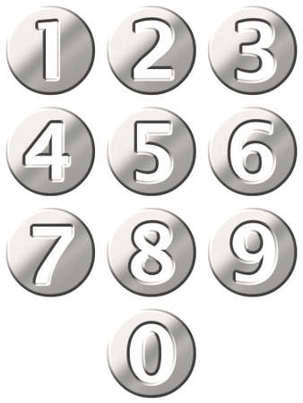 3d steel framed numbers  photo