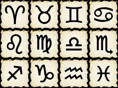 Zodiac signs on papyrus Stock Photo - 4804748