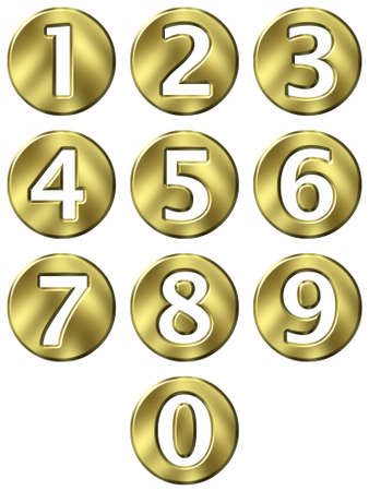 3d golden framed numbers Stock Photo - 4804771