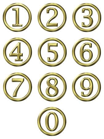 3d golden framed numbers  photo
