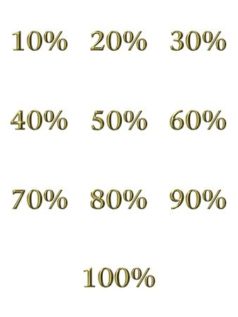 3d golden percentages  Stock Photo - 4804772