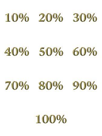 3d golden percentages Stock Photo - 4804772