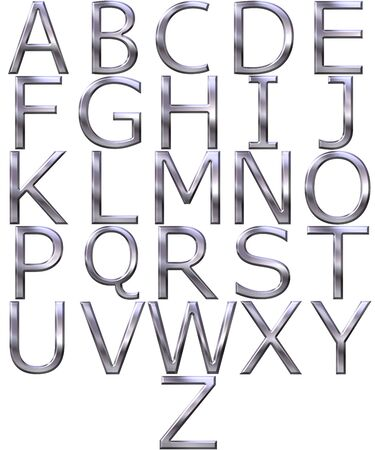 3d silver alphabet Stock Photo - 4804782