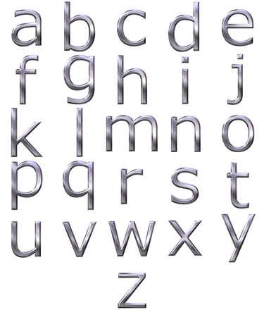 3d silver alphabet Stock Photo - 4804779