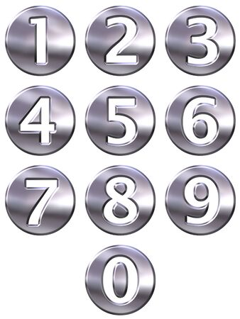 3d silver framed numbers Stock Photo - 4804783