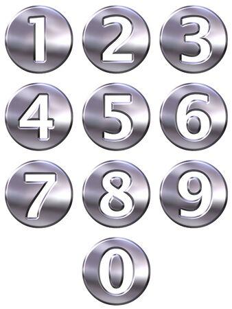 framed: 3d silver framed numbers