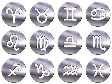 3d silver zodiac signs Stock Photo - 4804774
