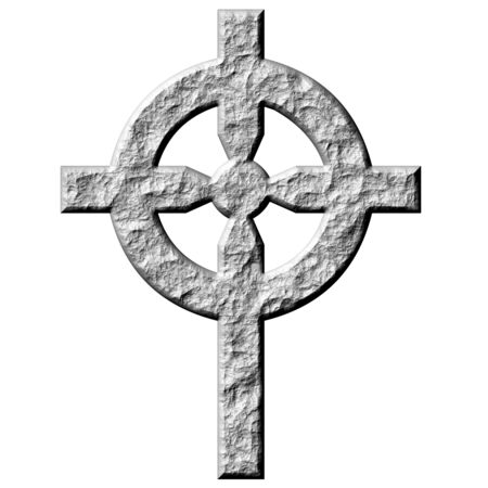pagan cross: 3d stone celtic cross