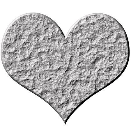 loveless: 3d stone heart  Stock Photo