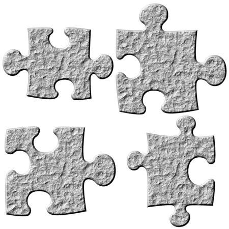 3d stone puzzle pieces Stock Photo - 4813864