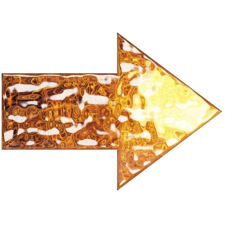 liquid metal: Freccia a metallo liquido Archivio Fotografico