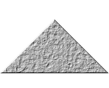 3d rock pyramid Stock Photo - 4821587