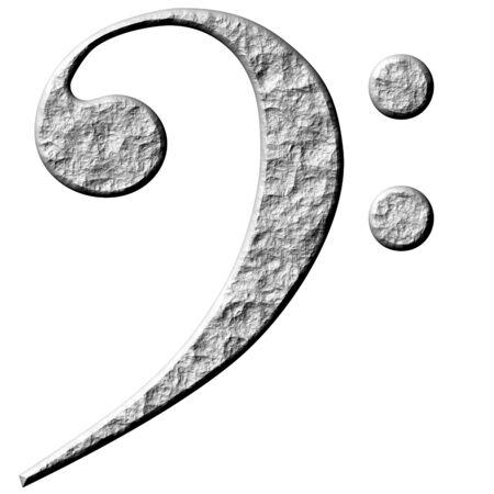 clave de fa: 3d piedra clave de fa