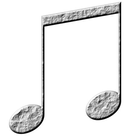 3d stone eighth notes  photo