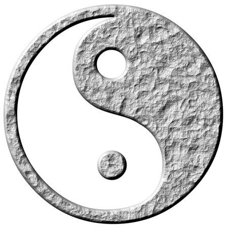 tao: 3d stone tao symbol