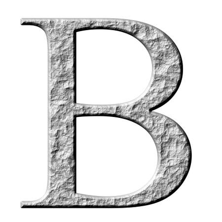 3d stone Greek letter Beta isolated in white photo