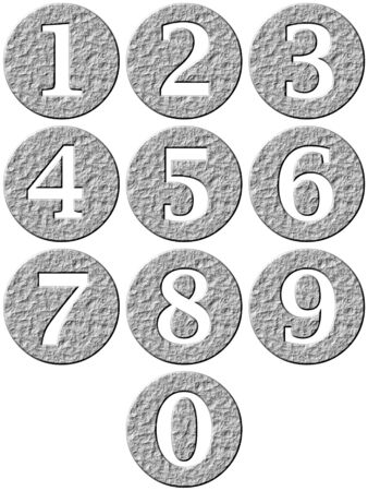 3d stone framed numbers Stock Photo - 4857574