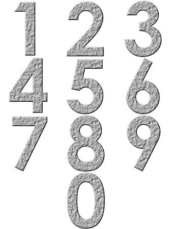3d stone numbers Stock Photo - 4864214