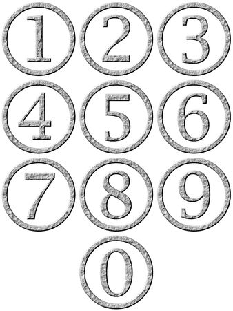 3d stone framed numbers Stock Photo - 4864246