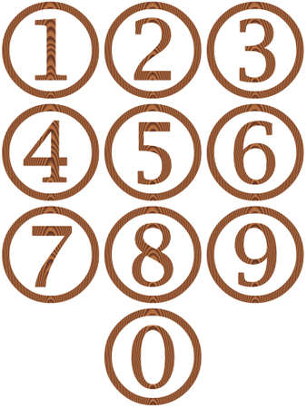 Wooden framed numbers  photo
