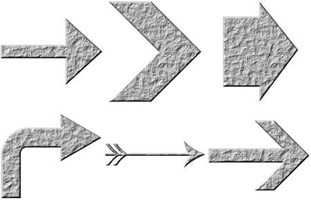 3d stone arrows Stock Photo - 4883077