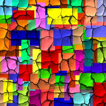 dehydrated: Colorful cracks