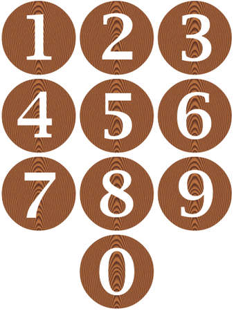 Wooden framed numbers  Stock Photo - 4908709