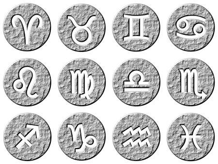 3d stone framed zodiac signs Stock Photo - 4985764